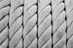Ship ropes sack. Back & white as background texture Stock Image