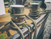 Ship ropes. Used to anchor Royalty Free Stock Image