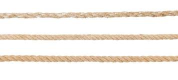 Ship ropes on white Royalty Free Stock Image