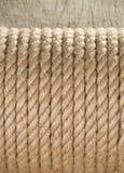 Ship ropes on wood background Royalty Free Stock Image