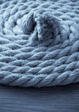 Ship ropes on wood Royalty Free Stock Photo