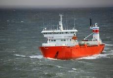 Ship in rough sea Stock Image