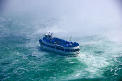 Ship in rough water Royalty Free Stock Image