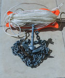 A Ship's Anchor on a Chain, New Zealand, photo took in New Zealand, photo is usable on picture post card, calendar, gardening, mag Stock Image
