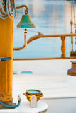 Ship's Bell on a yacht Royalty Free Stock Image