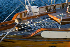 Ship's bow. On a old sailing vessel Royalty Free Stock Photography