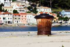 Ship's buoy in Mali Losinj pier,Croatia Stock Photography
