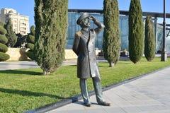 Ship's captain. Sculpture of the ship's captain in seaside boulevard, Baku, Azerbaijan Stock Image