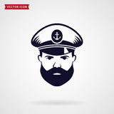 Ship`s captain vector icon. Royalty Free Stock Images