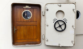 Ship's door with Porthole Royalty Free Stock Photography