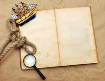 Ship's journal Royalty Free Stock Image