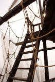 Ship's ladder. Into upper deck of schooner Royalty Free Stock Photography
