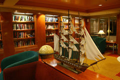 Ship's Library Stock Images