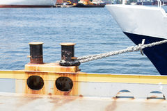 Ship's Mooring. In Odessa port Royalty Free Stock Photography