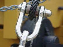 Ship's shackle Stock Photography