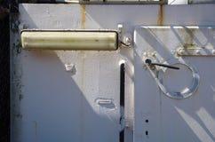 ship& x27; s strona, szczegół Zdjęcia Stock
