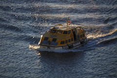 Ship's Tender Boat in Bar Harbor, United States, 2015 Royalty Free Stock Photography