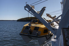 Ship's Tender Boat in Bar Harbor, USA, 2015 Stock Photography