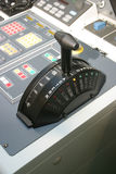 Ship's throttle at stop Stock Photo