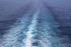The Ship's Wake. This is a photo of the cruise ship's wake I shot while cruising through the Caribbean Sea. It is a simple image, but interesting, too, for it is royalty free stock image