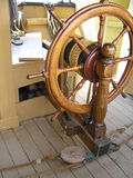 Ship's Wheel, Charles W. Morgan Stock Image