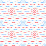 Ship`s Wheel , Seamless Pattern Royalty Free Stock Photography