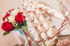 Ship sailboat made of shells. Royalty Free Stock Photo