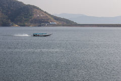 Ship sailing at Mae Ngad dam in Chiangmai Thailand Royalty Free Stock Photography