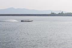 Ship sailing at Mae Ngad dam in Chiangmai Thailand Stock Photography