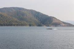 Ship sailing at Mae Ngad dam in Chiangmai Thailand Stock Images