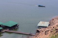 Ship sailing at Mae Ngad dam in Chiangmai Thailand Stock Photos