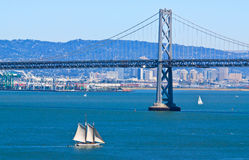 Ship sailing in San Francisco Bay Stock Image