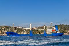 Ship sails Bosphorus Stock Photography