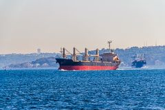 Ship sails Bosphorus Royalty Free Stock Photography