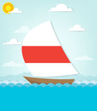 Ship sails on the sea Royalty Free Stock Photos