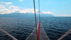 Ship sails to Mount Athos Royalty Free Stock Photos