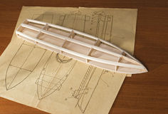 Ship scale model Stock Photos
