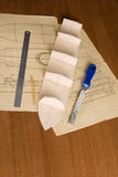 Ship scale model construction Royalty Free Stock Photo