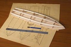 Ship scale model construction Stock Photos