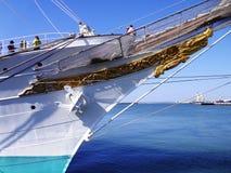 Ship school Juan Sebastian de Elcano in Cadiz Stock Images