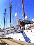 Ship school Juan Sebastian de Elcano in Cadiz Royalty Free Stock Photos