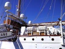 Ship school Juan Sebastian de Elcano in Cadiz Royalty Free Stock Images
