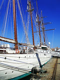 Ship school Juan Sebastian de Elcano in Cadiz Royalty Free Stock Photo