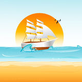 Ship on sea Royalty Free Stock Image