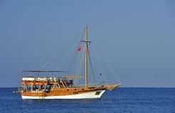 Ship in the sea. From Turkey Royalty Free Stock Photography