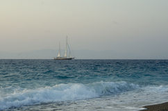 Ship in the sea Royalty Free Stock Image
