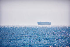 Ship at sea Stock Image