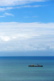 Ship in the sea Royalty Free Stock Photo