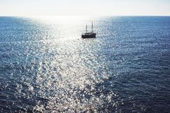 A ship on the sea royalty free stock photo