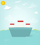 Ship at sea Royalty Free Stock Images